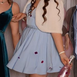 Ice Blue Winter Formal Dress